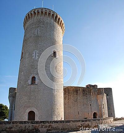 De Toren van het Kasteel van Bellver (Majorca)