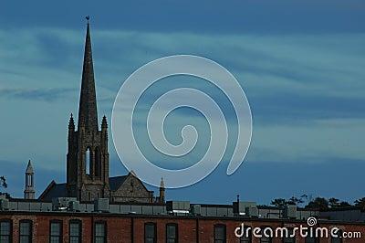 De Torenspits van de kerk