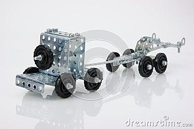 De tractorstuk speelgoed van de vrachtwagen - metaaluitrusting