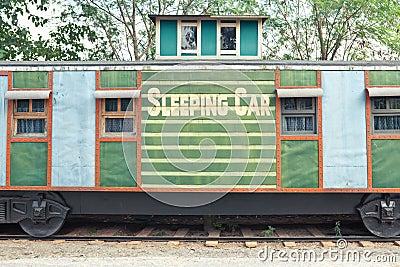 De treinwagen van de slaap