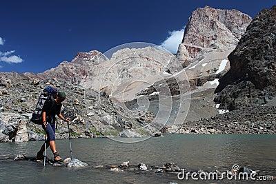 De trekking van de berg