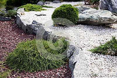 De tuin van de steen