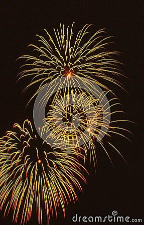 De uitbarsting van het vuurwerk