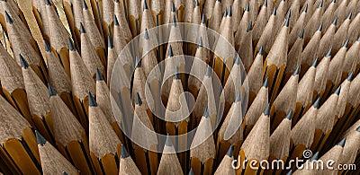 De uiteinden van het potlood