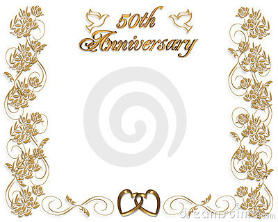 De uitnodiging van de Verjaardag van het huwelijk 50 jaar