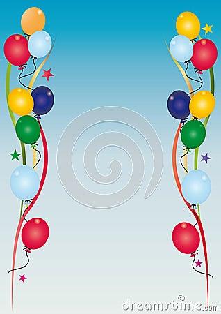 De uitnodigingshemel van de verjaardag