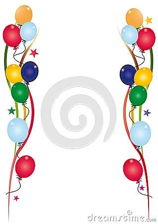 De uitnodigingswit van de verjaardag