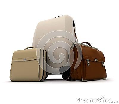De uitrusting van de bedrijfsreisbagage