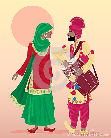De uitvoerders van Punjabi