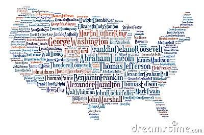 De V.S. brengen grote mensen in kaart. Redactionele Stock Foto