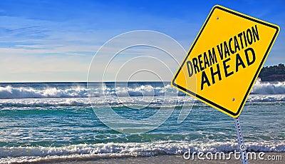 De vakantie van de droom vooruit