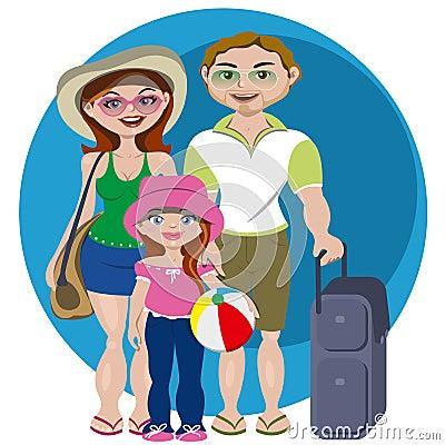 De vakantie van de familie