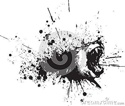 De vector Abstracte Nevel van de Leeuw