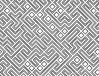 De vector Achtergrond van het Patroon van het Labyrint