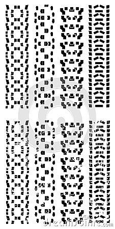De vector sporen van de fietsband