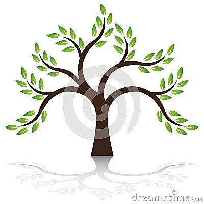 De vector van de boom