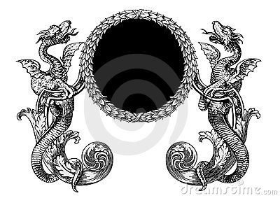 De vector van draken