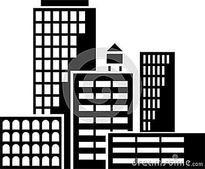 De vector van gebouwen