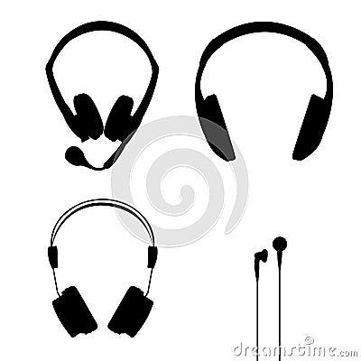 De vector van hoofdtelefoons