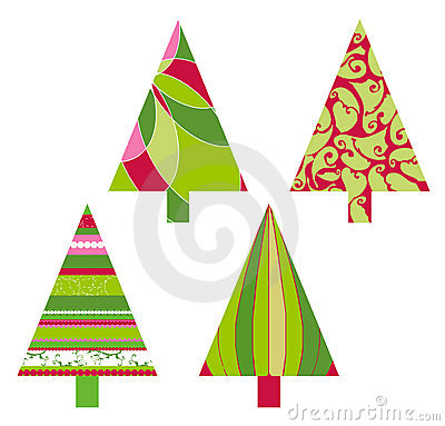 De vectorbomen van Kerstmis