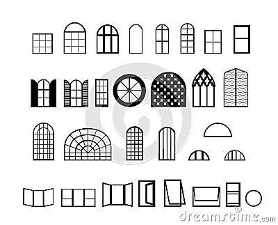 De vectoren van vensters