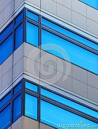 De vensters van het bureau