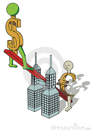 De verhoging van de dollar