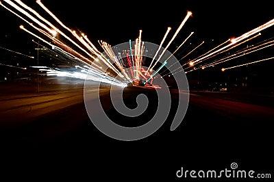 De verkeerslichten van de nacht