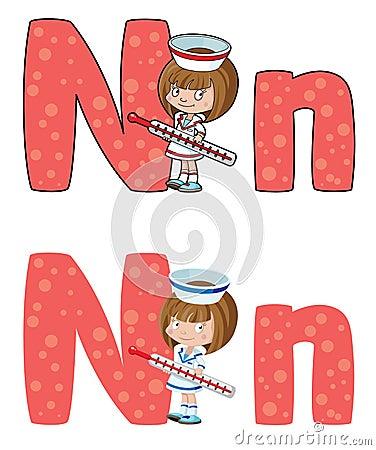 De verpleegster van de brief N