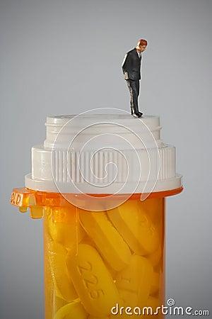 De verslaving van de drug