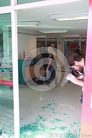 De vertraging van de bank Redactionele Foto