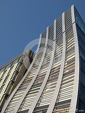 De vervormde bouw in Tokyo, Japan