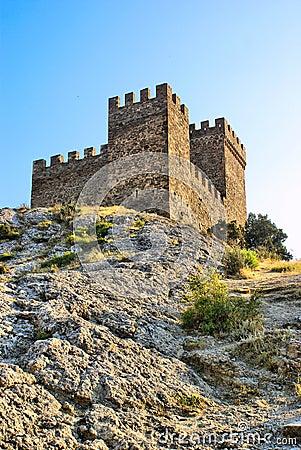 De vesting van Genoese. Het kasteel van de consul. Fortifiaction.
