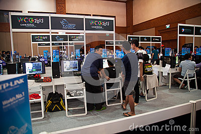 De videospelletjeconcurrentie op Indo-Spel toont 2013 Redactionele Stock Afbeelding