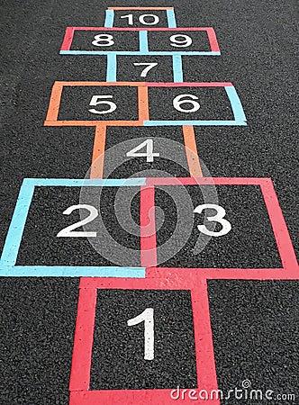 De vierkanten van hinkelspels