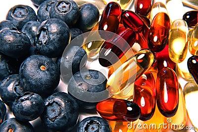 De vitaminen van de bosbes