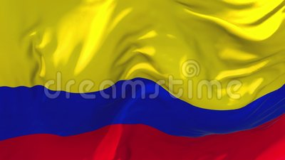 De Vlag die van Colombia op Achtergrond van de Wind de Ononderbroken Naadloze Lijn golven stock video