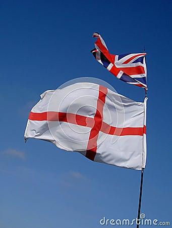 De Vlag en Union Jack van Engeland