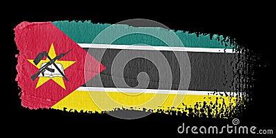 De Vlag Mozambique van de penseelstreek