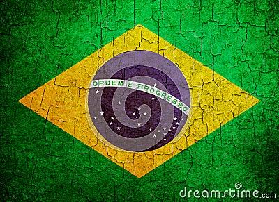 De vlag van Brazilië van Grunge