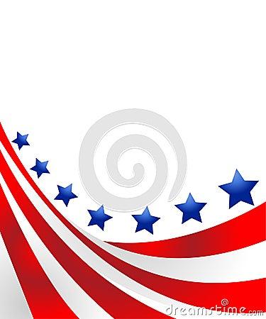 De vlag van de V.S. in stijl
