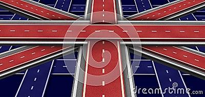 De Vlag van de Weg van Groot-Brittannië