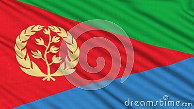De Vlag van Eritrea. royalty-vrije illustratie