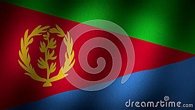 De vlag van Eritrea royalty-vrije illustratie