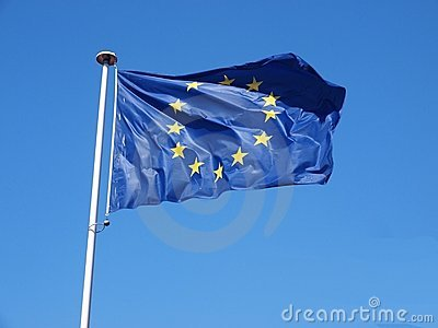 De vlag van Europa