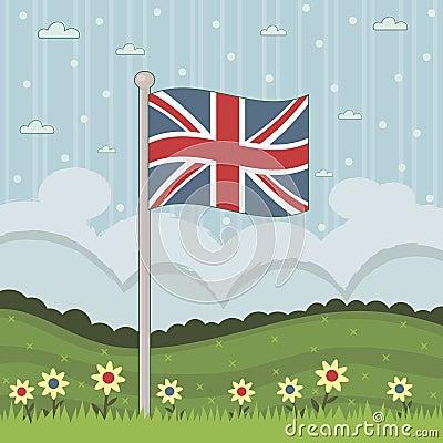 De vlag van Groot-Brittannië