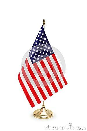 De vlag van het tafelblad van de V.S.