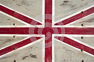 De vlag van het Verenigd Koninkrijk van het metaal
