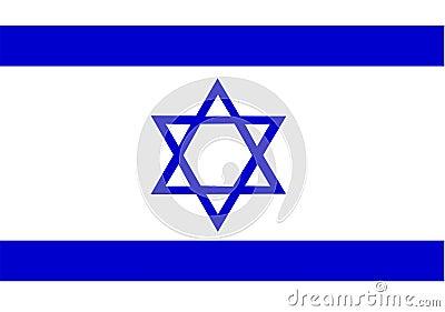 De Vlag van Israël