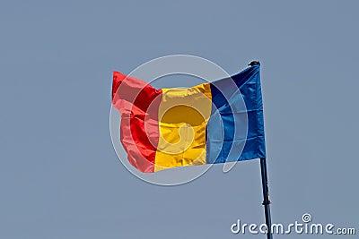 De vlag van Roemenië